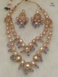 Kundal Long Two Layer Precious Set