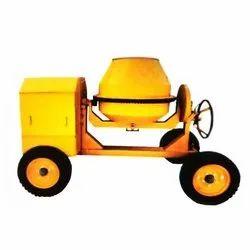 Semi Automatic Mobile Concrete Mixer
