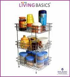 Wire Basket SS Kitchen Rack