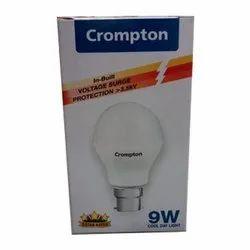 Ceramic Round 9 Watt Crompton LED Bulb