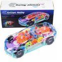 Multicolor Plastic Kids 3d Lighting Transparent Musical Car