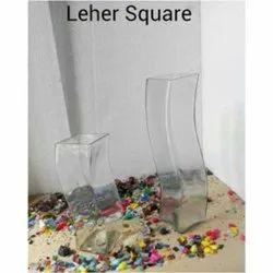 Leher Square Glass Vase