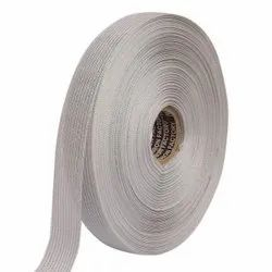 Lurex - Silver Stripe Edge Ribbons 25mm/1'' Inch 20mtr Length