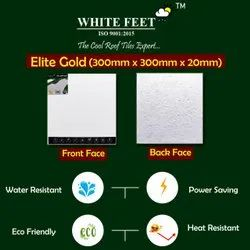 Cool Roof Tiles - White Feet 300mm x 300mm x 20mm Elite Gold