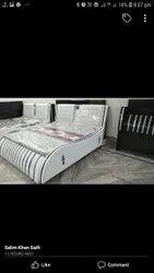 Modern White Wooden Single Bed