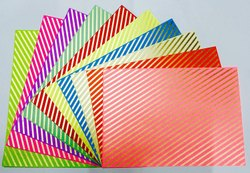 Qatalitic A4 Size Craft Paper Sheets With Single Side Decorative Pattern Pack Of 10