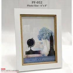 Decorative Wooden White Finish Photo Frame