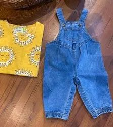 Blue Beaus Girl Denim Overall