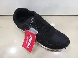 Men Bata Black Sports Shoes, Size: 5 to 10 Indian Size