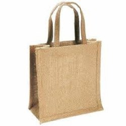 Brown Plain Jute Bag, Size: 16x18x3 Inch