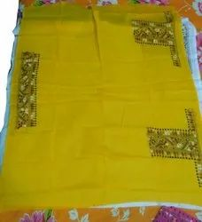 Hand Work Casual Blouse Piece Fabric