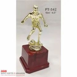 Plastic Golden Football Sports Player Trophie