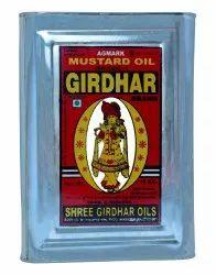 15 Kg Girdhar Kachchi Ghani Cooking Mustard Oil, Packaging Size: 15kgs