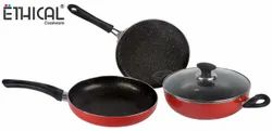 Cookwear Aluminium Non Stick Cookware Gift Set, For Home, Size: 24,25.5 Cm