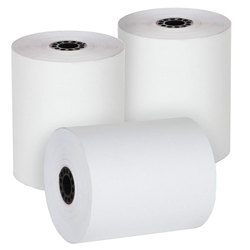 SRK-RG Black Imprint Thermal Paper Roll 79mm 50mtrs, GSM: 80 - 120 GSM, Packaging Type: Box Of 100