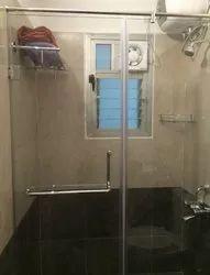 Bathroom Shower Area Glass Partition Work