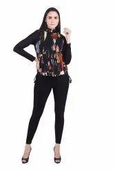 Party Wear Girls Printed Sleeveless Ladies Jacket, 18 - 40