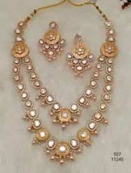 Kundan Fancy Double Layer Long Set