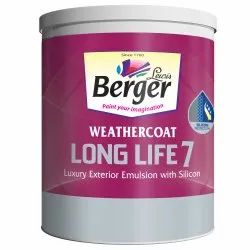 High Sheen Over 2000 shades Berger WeatherCoat Long Life 7 Luxury Exterior Emulsion