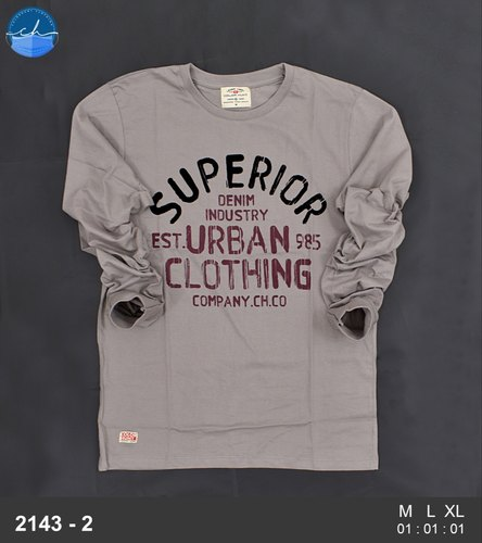 Mens Cotton Printed Full Sleeve T Shirt
