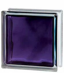Brilly Violet Wave Glass Bricks