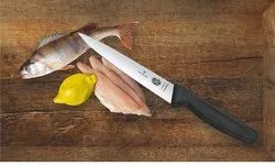 Black Stainless Steel Victorinox Fish Filleting And Docmestic Knife 20 Cms, For Kitchen