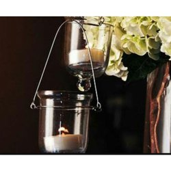Hanging Glass Tealight Holder