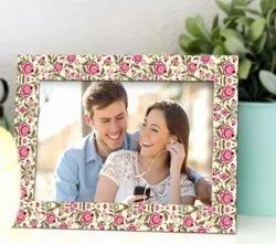 Flower Printed Paper Photo Frame