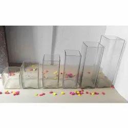 Square Glass Vase