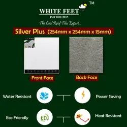 Cool Roof Tiles - White Feet 254mm x 254mm x 15mm Silverplus
