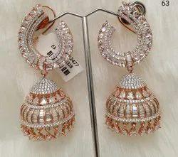 AD Latest Style Jhumka Earring