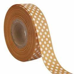 Polka Dots Mustard Ribbons 25mm/1''inch Gross Grain Ribbon 20mtr Length