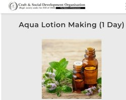 Online Aqua Lotion Making Course