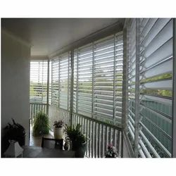 Interior White Window Blind