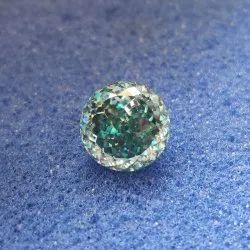 Blue Color Portuguese Cut Loose Moissanite For Jewelry