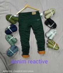 Plain Denim reactive cotton trouser