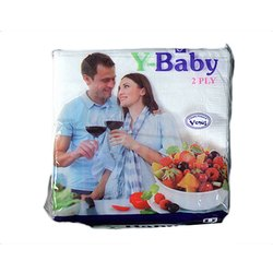 Y Baby Paper Napkin, Packet, Size: 33 X 33 Cm