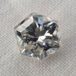 Colorless Hexagon Brilliant Cut Loose Moissanite For Jewelry