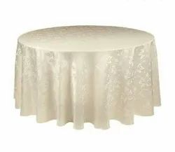 IVORY COLOR DAMASK TABLE CLOTH