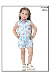 Blue Girl Kids Designer Rompers