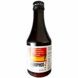 Folic Acid Cyanocobalamin lysine Iron Liquid Syrup, Packaging Size: 200ml