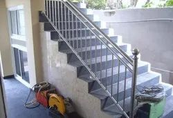 S s pipe Stainless Steel Railing, For Home, Mounting Type: Floor