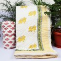 Modern Handmade Printed Baby Quilt