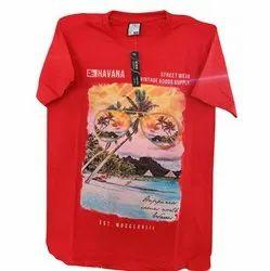 Hosiery Round Printed Half Sleeve Mens T Shirts