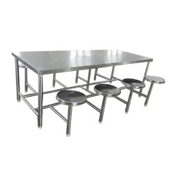 Silver Canteen Mild Steel Dining Table Set