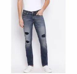Comfort Fit Party Wear Mens Denim Jeans, Waist Size: 32