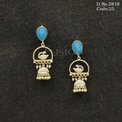 Designer Indian Peacock Earrings