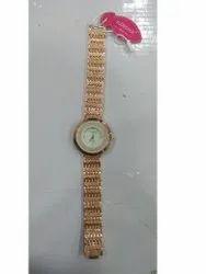 Women Formal Wear Ladies Golden Fancy Wrist Watch