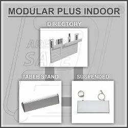 silver&black Modular Plus Indoor Boards, Shape: Square or Rectangular