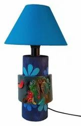 Antique Terracotta Table Lamp, For Decoration